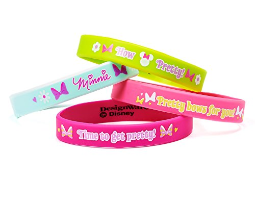 Minnie Mouse Bowtique Rubber Bracelets, 4 Count, Party Supplies