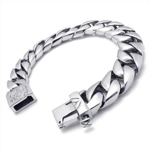 KONOV Jewelry Stainless Steel Mens Bracelet, Silver, 8.66 Inch
