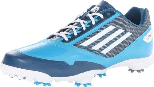 adidas Men's Adizero One Golf Shoe,Solarmet/White/Tribe Blue,10.5 M US