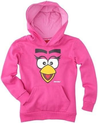 Angry Birds - sweat-shirt à capuche - fille - rose foncé (fuxia) - 4 ans