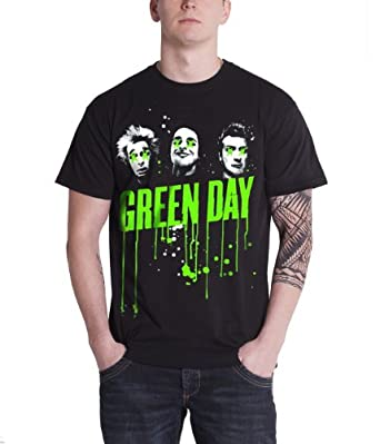 Green Day Drips Official Mens New Black T Shirt All Sizes