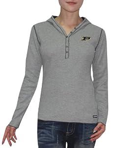 NCAA Purdue Boilermakers Ladies Slim Fit Pullover Long Sleeve Hooded Shirt by NCAA