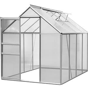 Serre de jardin 'SUNLIGHT' - volume 7,6 m³ - en aluminium et polycarbonate