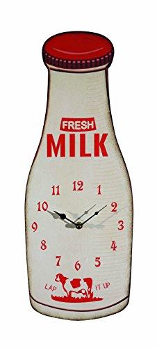 Wood Milk Bottle Wall Clock
