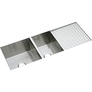 Elkay EFU471810DB Avado Stainless Steel 47-1/4-Inch x 18-1/2-Inch Double Basin Kitchen Sink