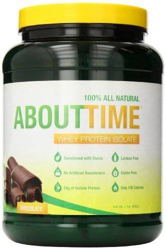 SDC Nutrition About Time Whey Protein Isolate, Chocolate, 2 Pound by SDC Nutrition (English Manual)