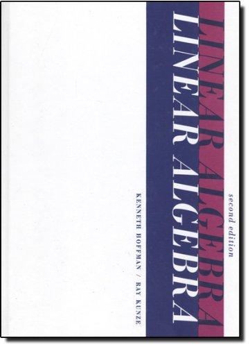 Linear Algebra (2nd Edition)