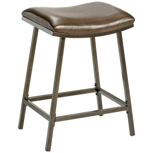Hillsdale Saddle Counter/Bar Stool with Nested Leg