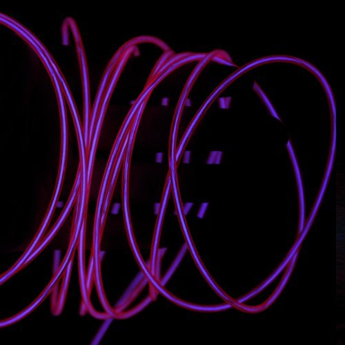 Pysical(Tm) 15Ft Neon Light El Wire W/ Battery Pack For Parties, Halloween Decoration (Purple)