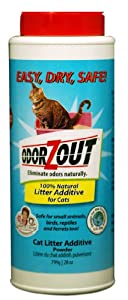 Cat Litter Additive Powder Litter Box Odor Remover 28-ounces