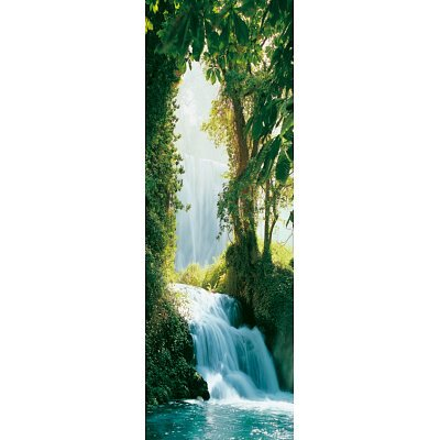 (21x62) Zaragoza Falls (Waterfall, Door) Art Poster Print Collections Door Poster Print, 21x62