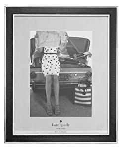 """Kate Spade New York Picture Frame, """" Chamber's Bay Charcoal Collection"""" - 8"""" X 10"""" Picture Frame"""