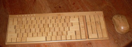 Artis Handcrafted Natural solid Bamboo Wooden PC Wireless Keyboard and Mouse