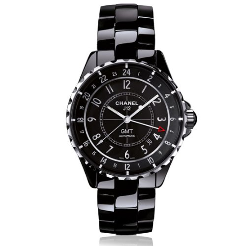 Chanel J12 Automatic GMT Black High-Tech Ceramic Ladies Watch H3102