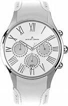 Jacques Lemans Capri 1-1606B Ladies Chronograph White Leather Strap Watch
