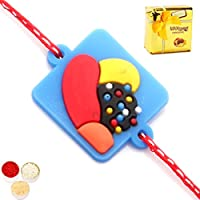 Kids Rakhi -candy Crush Rakhi With Chocolate Box