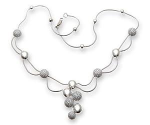 Collier Femme Or Blanc 750/1000 et Diamant Brillant 2.60 Carat I-I1 - 5cm, 8 Grammes