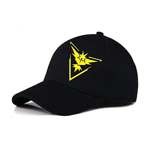 Negro-Pokemon-Go-del-equipo-Escudo-instinto-Mystic-valor-Deportes-gorra-de-bisbol-al-aire-libre