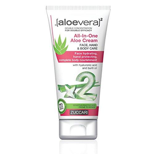 ZUCCARI [aloevera]², Crema universale all'Aloe vera, per mani, viso e corpo, 75 ml