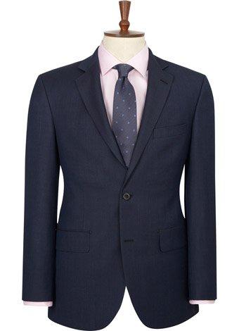 Austin Reed Regular Fit Blue Birdseye Jacket SHORT MENS 38