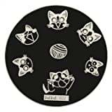 hehe Stainless Geometric Nail Image Stamp Stamping Plates Template (Color : #04)