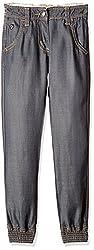 US Polo Girls' Jeans (UGJN5010_Grey_EXS )