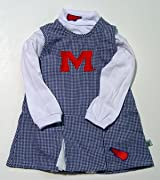 Ole Miss Sara Lynn Toggs Infant Gingham Cheer Outfit