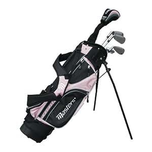 Masters MC-J520 Clubs de golf junior pour filles de 6 à 8 ans Rose Droitier Fibre de carbone