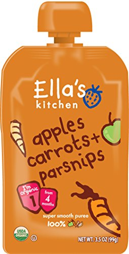 Ella'S Kitchen Organic Stage 1, Apples Carrots + Parsnips, 3.5 Ounce (Pack Of 6) front-58935