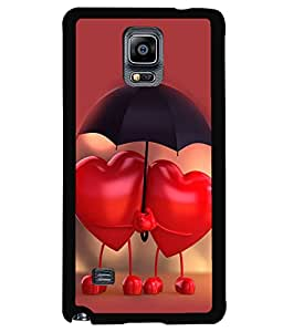 printtech Love Heart Couple Back Case Cover for Samsung Galaxy Note 4 N910::Samsung Galaxy Note 4 Duos N9100