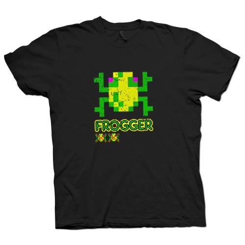 Frogger - Classic Arcade Game - 80s Gamer T Shirt