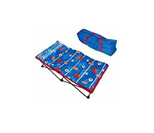 Blue Boys All Star Portable Lounger w/ Sleeping Bag & Tote by Playhut
