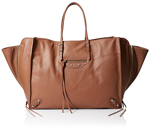 Balenciaga-Womens-Paper-Zip-Around-A4-Dark-Brown
