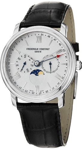 Frederique Constant Men's FC270SW4P6 Business Time Analog Display Swiss Quartz Black Watch image