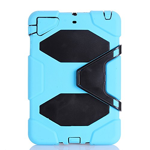 IIYBC Brand for Apple Ipad Mini 1&2&3 Defender Shockproof Survivor Military Duty Hybrid Hard Case with Soft Silicone (Baby Blue)