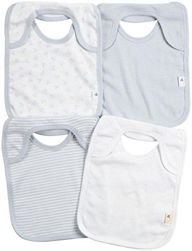 Burt's Bees Baby Baby Boys' 4 Pack Bibs (Baby) - Sky - One Size