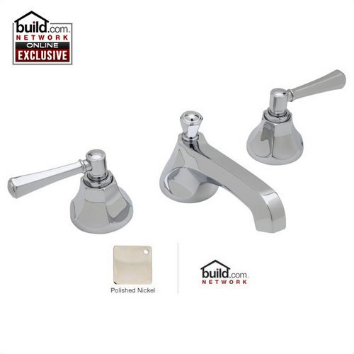 Rohl WE2302LM-2 Wellsford Widespread Bathroom Faucet - Free Pop-Up Drain with pu, Polished Nickel