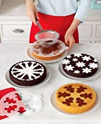 Martha Stewart Collection Holiday Cake Stencils: Snowflakes, Trees, Gingerbread, Poinsettias