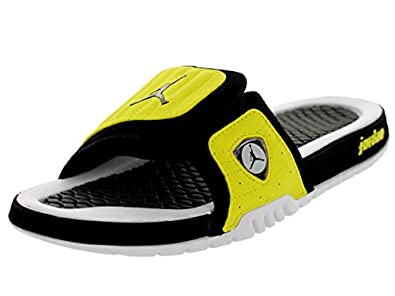 Nike Jordan Men's Jordan Hydro XIV Retro Black/Black/Vibrant Yellow/Wht Sandal 8 Men US