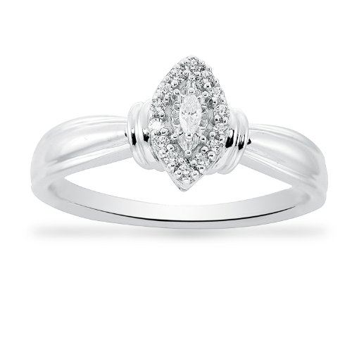 Women's Sterling Silver Engagement Ring (17 cttw I-J Color, I2-I3 ...