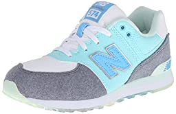 New Balance KL574G Deep Freeze Pack Classic Running Shoe (Big Kid), Artic Blue/Grey, 5.5 M US Big Kid