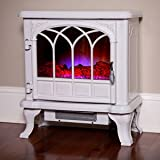 Duraflame 550 Cream Electric Fireplace Stove with Remote Control - DFS-550-27