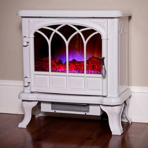 Duraflame 550 Cream Electric Fireplace Stove with Remote Control - DFS-550-27 image B00GMKXC1G.jpg