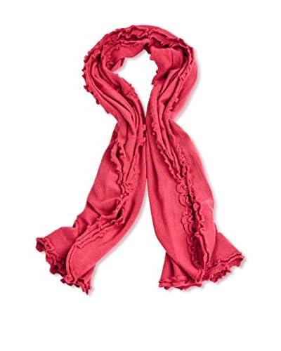 a & R Cashmere Women's Cashmere & Wool Lettuce Edge Wrap, Claret