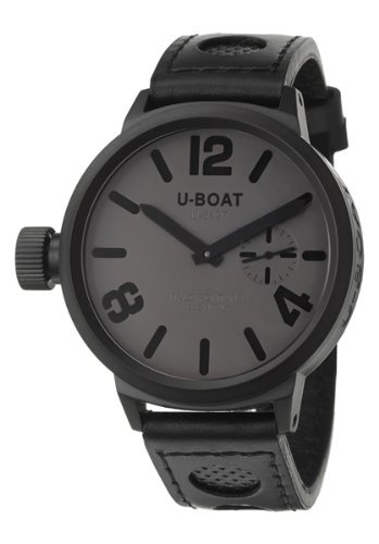U-Boat Flight Deck MBG/MSG Men's Manual Watch 50-MB-GREY-BK