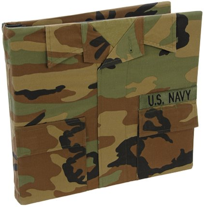 Uniformed U.S. Navy Battle Dress Uniform Keepsake Album