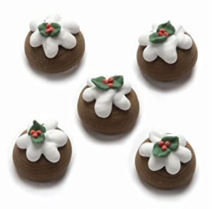 Christmas Pudding Edible Cake Decorations: Amazon.co.uk: Baby