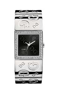 Guess - I70607L2 - G2G - Montre Femme - Quartz Analogique - Cadran Noir - Bracelet Acier Argent