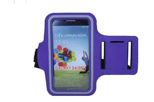 Brillant exécutif Slim Fit Violet Courir Brassard couverture de cas pour Samsung Galaxy i9500 S4 SIV