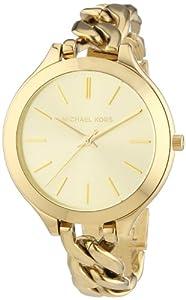 Michael Kors Damen-Armbanduhr Analog Quarz Edelstahl beschichtet MK3222